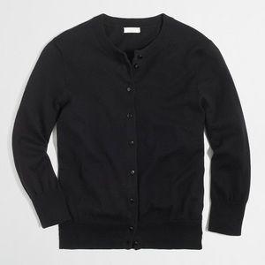 J Crew Solid Black Clare Cardigan Sweater
